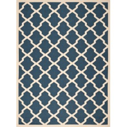 8'X11' Malaga Outdoor Rug Navy/Beige - Safavieh, Size: 8'x11', Blue/Beige found on Bargain Bro Philippines from target for $164.99