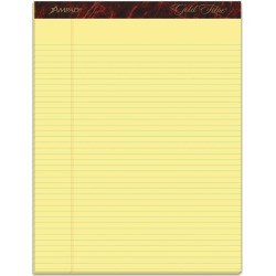 Ampad 12pk Legal Pads Narrow Rule 8.5 x 11.75 Gold, Yellow