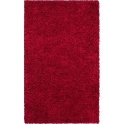 Red Solid Shag/Flokati Tufted Area Rug - (8'X10') - Safavieh, Size: 8'X10' found on Bargain Bro Philippines from target for $370.99