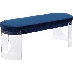 Clarity Contemporary Glam Bench Clear/Navy Blue Velvet - LumiSource found on Bargain Bro India from target for $499.99