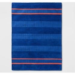"4'x5'5"" Striped Rug Blue/Orange - Pillowfort , Blue Orange"