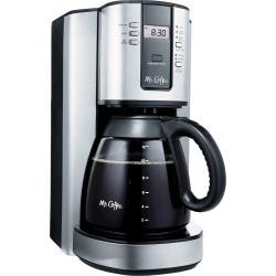 Mr. Coffee 12 Cup Programmable Coffee Maker - Stainless Steel BVMC-TJX37, Silver