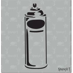 "Stencil1 Spray Can - Stencil 5.75"" x 6"", White"