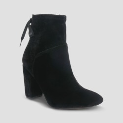 Women's Velvet Amber Bootie - Who What Wear Black 7.5 found on Bargain Bro from target for $44.99