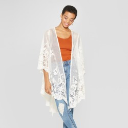5e5aff44013 Women's Long Sleeve Lace Kimono - Xhilaration White XS found on MODAPINS from  target for USD