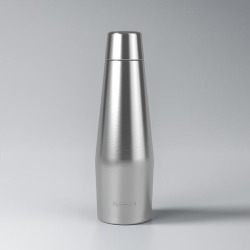 Proof 18oz Double-Wall Vacuum Insulated Medical Grade Steel Water Bottle Silver