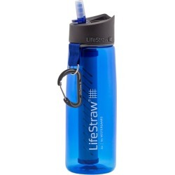 LifeStraw Go Advanced 2-Stage Water Filter Bottle - Blue