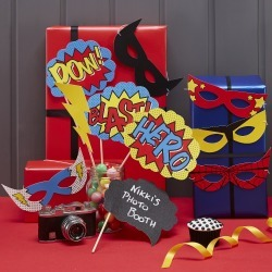 10ct Ginger Ray Photo Booth Props Comic Superhero, Multi-Colored found on Bargain Bro India from target for $9.99