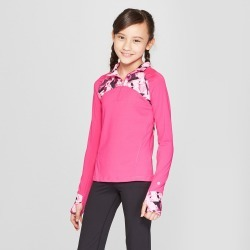 Girls' Performance 1/4 Zip Pullover - C9 Champion Fuchsia Pink XS, Girl's, Fuschia Pink found on Bargain Bro India from target for $19.99