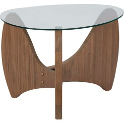 Beck Glass Top End Table - Natural found on Bargain Bro India from target for $199.00