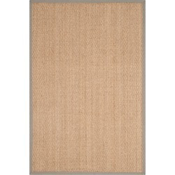 Natural Fiber Rug - Natural/Grey - (4'x6') - Safavieh, Natural/Gray found on Bargain Bro Philippines from target for $87.49