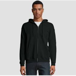 Hanes Men's EcoSmart Fleece Full Zip Hooded Sweatshirt - Black 2XL found on Bargain Bro India from target for $9.69
