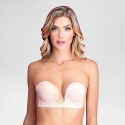 Fashion Forms Women's Adhesive Strapless Backless U Plunge Bra - Nude A Cup