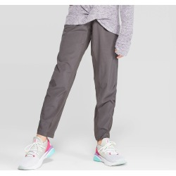 Girls' Light Weight Stretch Woven Pants - C9 Champion Gray L, Girl's, Size: Large found on Bargain Bro India from target for $19.99