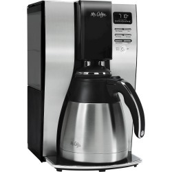 Mr. Coffee 10 Cup Programmable Thermal Coffee Maker - BVMC-PSTX91, Silver
