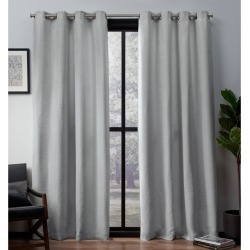 Leeds Woven Blackout curtain panels Dove Grey 52x108 - Exclusive Home, Gray found on Bargain Bro India from target for $43.49