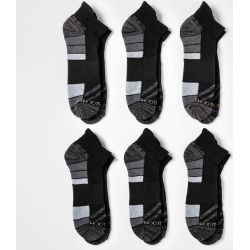 Fruit of the Loom Men's 6pk Breathable Performance Low Cut Socks - Black 12-16, Size: Small