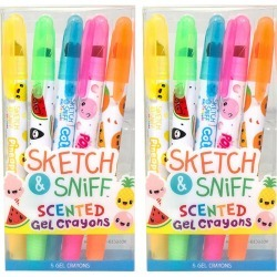 Scentco 2pk Sketch & Sniff Scented Gel Crayons 10ct total