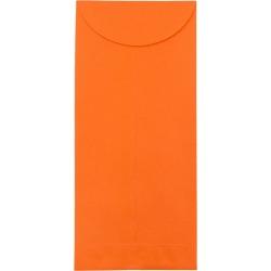 JAM Paper Brite Hue #12 Policy Envelopes 4 3/4 X 11 50 per pack Orange, Orange Smoothie