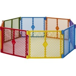 Toddleroo By North States Superyard Colorplay 8 Panel Freestanding Gate found on Bargain Bro India from target for $97.99