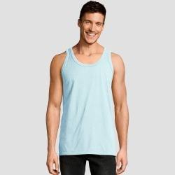 Hanes Men's 1901 Garment Dyed Tank Top - Light Blue S, Men's, Size: Small found on Bargain Bro India from target for $6.59