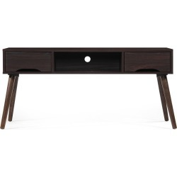 "Frieda 47"" Mid Century Entertainment Center Wenge Brown - Christopher Knight Home"