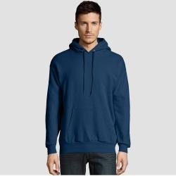 Hanes Men's EcoSmart Fleece Pullover Hooded Sweatshirt - Navy 2XL, Blue found on Bargain Bro India from target for $10.79