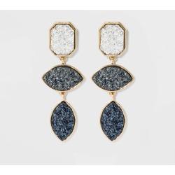 SUGARFIX by BaubleBar Tiered Druzy Drop Earrings, Women's, MultiColored