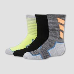 Boys' 3pk Crew Athletic Socks - C9 Champion Grey/Black/Green M, Boy's, Size: Medium, MultiColored found on Bargain Bro India from target for $6.29