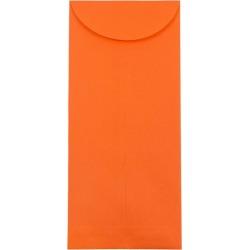 JAM Paper Brite Hue #14 Policy Envelopes 5 X 11 1/2 50 per pack Orange, Orange Smoothie