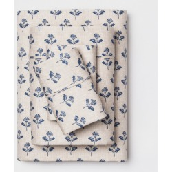 400 Thread Count Full Performance Sheet Set Blue Alice Flower - Threshold found on Bargain Bro India from target for $40.49