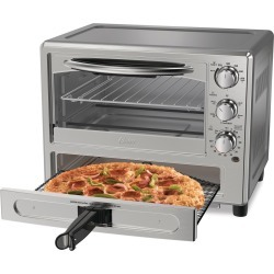 Oster Pizza Toaster Oven TSSTTVPZDA, Silver