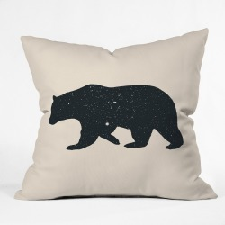 Florent Bodart Animal Square Throw Pillow Black - Deny Designs