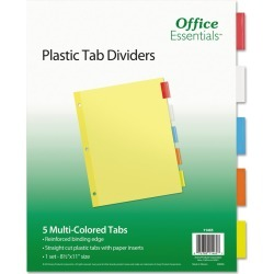 Avery Office Essentials Insertable Tab Index Divider Set, Letter, Assorted, 5/Set, Multi-Colored found on Bargain Bro from target for $0.89