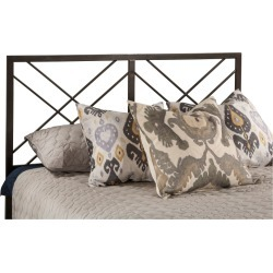 Westlake Metal Headboard Full/Queen Magnesium Pewter Metal Headboard Frame Included - Hillsdale Furniture, Silver found on Bargain Bro India from target for $211.99