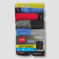 Hanes Boys' 6pk Marled Xtemp Boxer Briefs - M, Boy's, Size: Medium, MultiColored found on Bargain Bro Philippines from target for $14.99