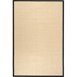 6'X9' Solid Loomed Area Rug Maize/Black - Safavieh, Yellow/Black found on Bargain Bro India from target for $351.49