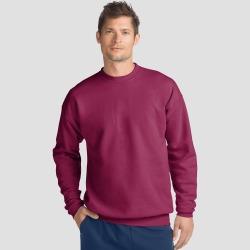 Hanes Men's EcoSmart Fleece Crew Neck Sweatshirt - Red S, Men's, Size: Small found on Bargain Bro India from target for $5.89