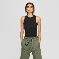 Women's Sleeveless Crew Neck Tank Top - A New Day Black M found on Bargain Bro India from target for $7.99