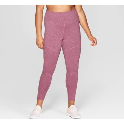 bdfe65cc19d Women s Plus Size Performance High-Waisted 7 8 Mini Striped Leggings -  JoyLab Grape