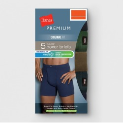 Hanes Premium Men's 5pk Comfort Soft Waistband Boxer Briefs - Colors May Vary L, Size: Large, MultiColored found on Bargain Bro Philippines from target for $21.99