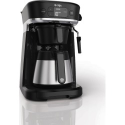 Mr. Coffee Occasions Thermal Carafe Single-Serve Coffee Maker with Storage Tray, Black