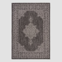 8' x 11' Cleora Outdoor Rug Black/Ivory - Safavieh, Black White found on Bargain Bro India from target for $173.59