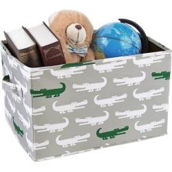 Gray Alligator Toy Storage Container Set (16