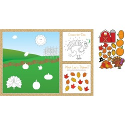8ct Thanksgiving Activity Placemats