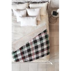 """Black Plaid Zoe Wodarz Cozy Cabin Sherpa Throw Blanket (50""""X60"""") - Deny Designs"""