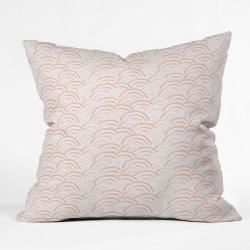 Pink Rainbow Throw Pillow - Deny Designs
