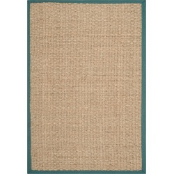 3'X5' Basket Weave Accent Rug Natural/Light Blue - Safavieh found on Bargain Bro India from target for $63.99