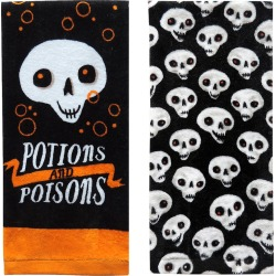 Potions and Poisons Halloween Hand Towel 2pk - Hyde and Eek! Boutique