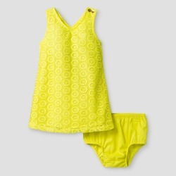 Toddler Girls' A Line Dress Genuine Kids from OshKosh Chipper Yellow 18M, Toddler Girl's, Size: 18 M